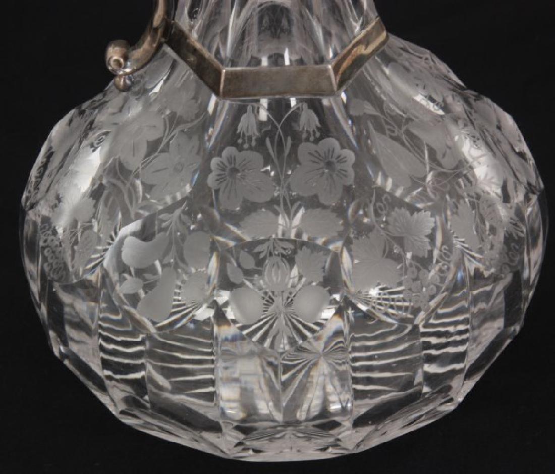 JC Edington Sterling & Cut Glass Claret - 2