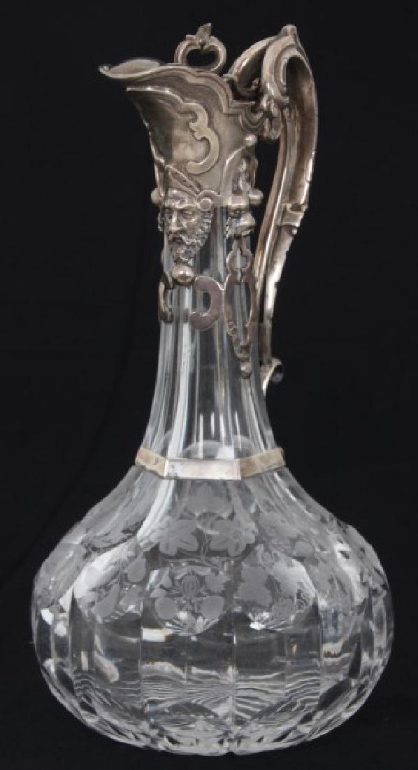 JC Edington Sterling & Cut Glass Claret - 4