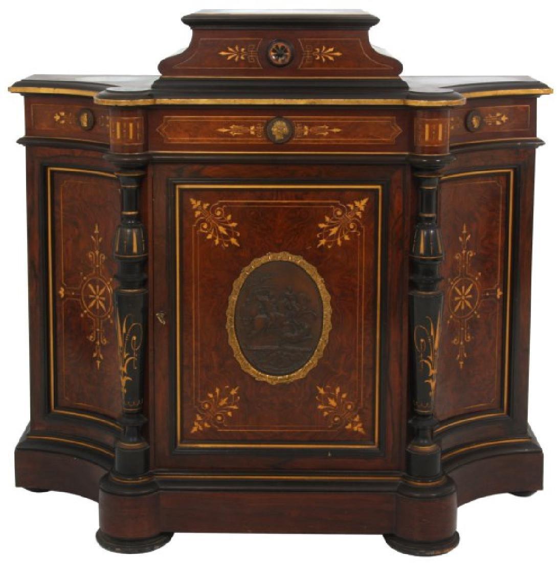 Renaissance Revival Rosewood 1 Dr. Credenza
