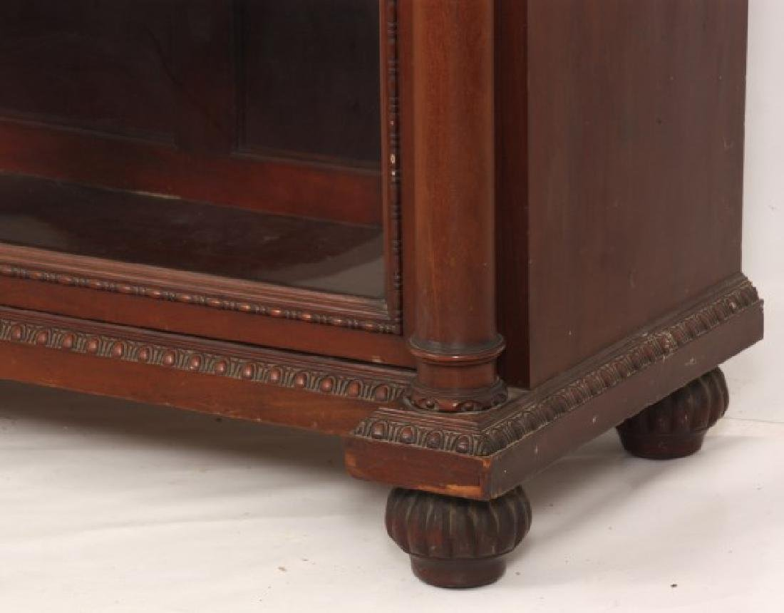 Carved 2 Dr. Mahogany Bookcase - 5