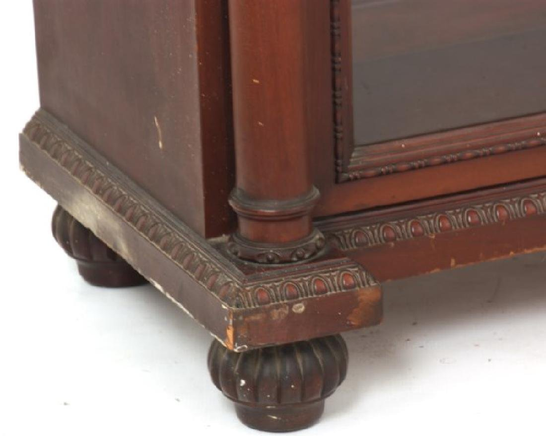 Carved 2 Dr. Mahogany Bookcase - 9