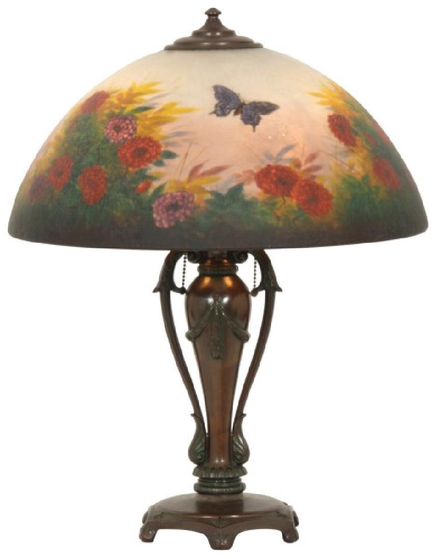 18 in. Classique Reverse Painted Table Lamp
