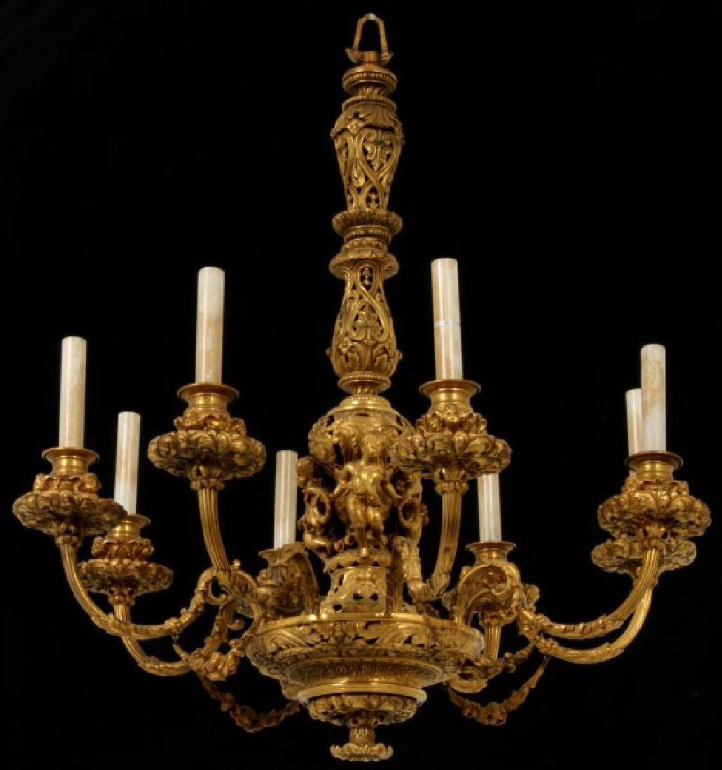 Figural Gilt Bronze Chandelier attr. Caldwell & Vintage Bronze Lighting for Sale u0026 Antique Bronze Lighting azcodes.com