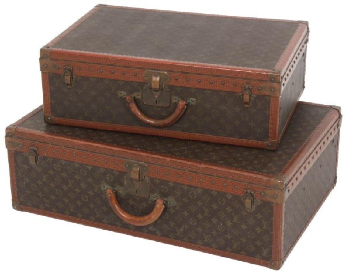 2 Pcs. Vintage Louis Vuitton Luggage