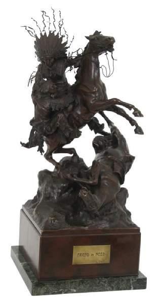 Carl Kauba Bronze Sculpture - A Friend In Need