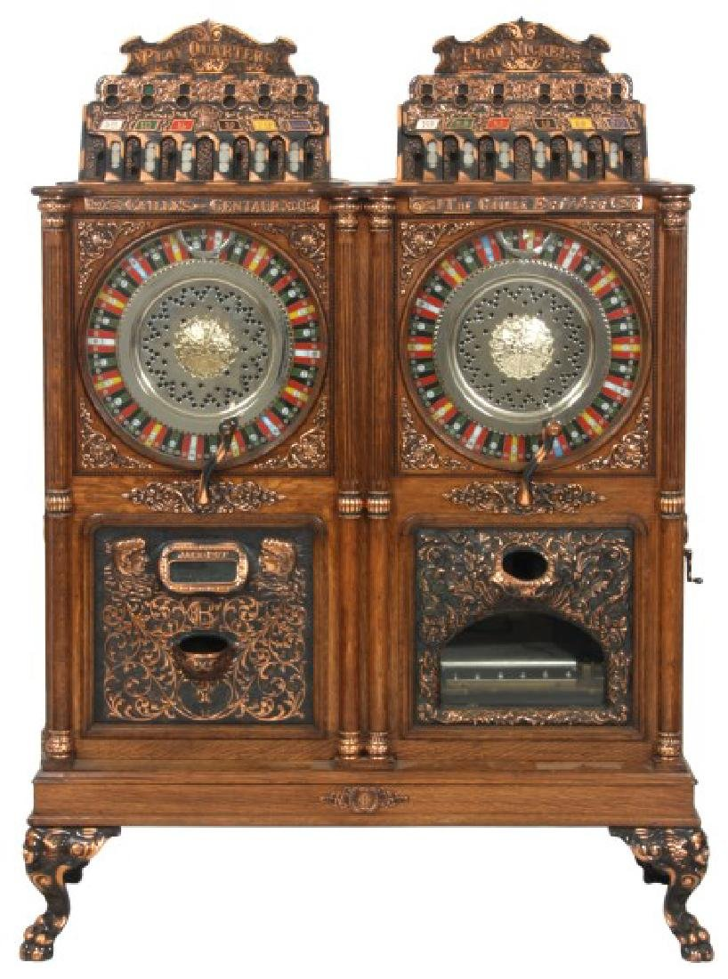 Caille Bros. Musical Double Upright Slot Machine