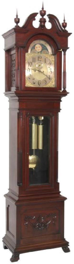 Herschede Mahogany 2 Wt. Grandfather Clock