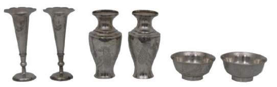 6 Pcs. Chinese Export Silver