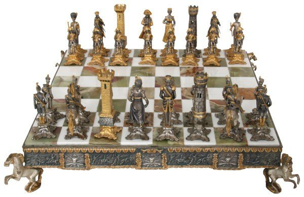 Giuseppe Vasari Napoleonic Chess Set