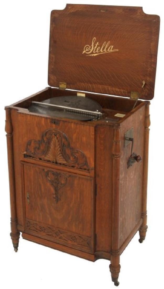 Oak Stella Grand Cabinet Disc Music Box