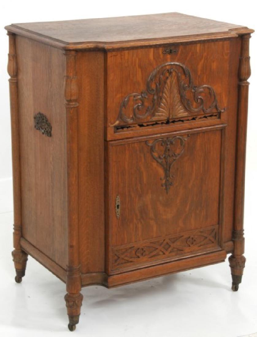 Oak Stella Grand Cabinet Disc Music Box - 2