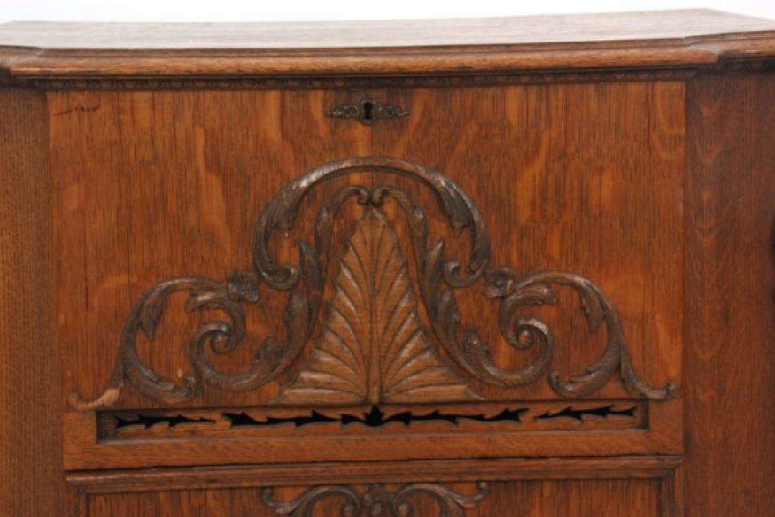 Oak Stella Grand Cabinet Disc Music Box - 3
