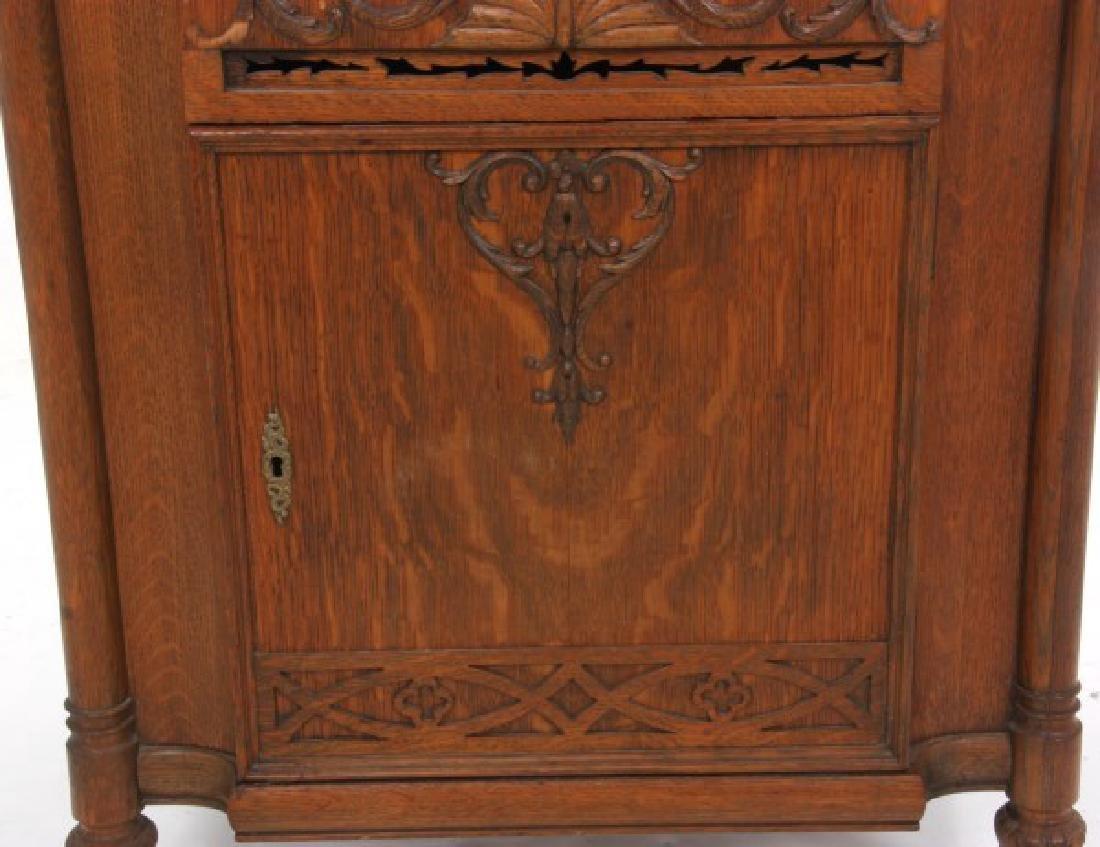 Oak Stella Grand Cabinet Disc Music Box - 4