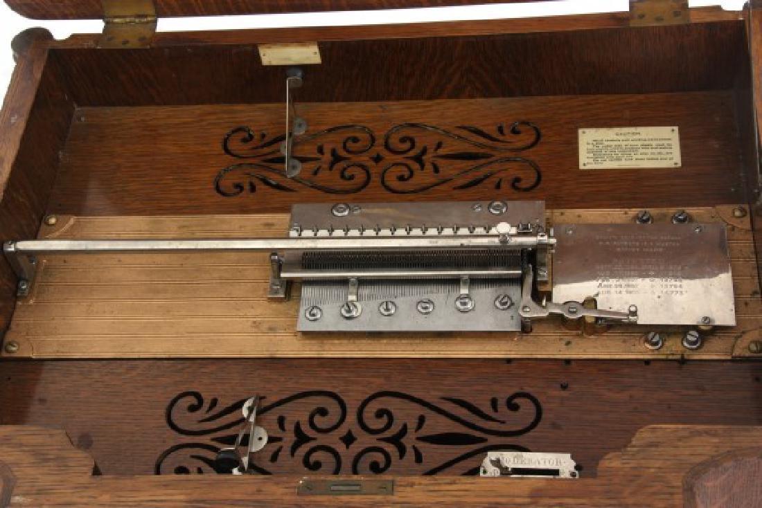 Oak Stella Grand Cabinet Disc Music Box - 6
