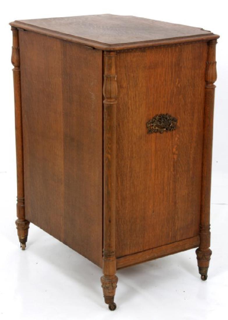 Oak Stella Grand Cabinet Disc Music Box - 9