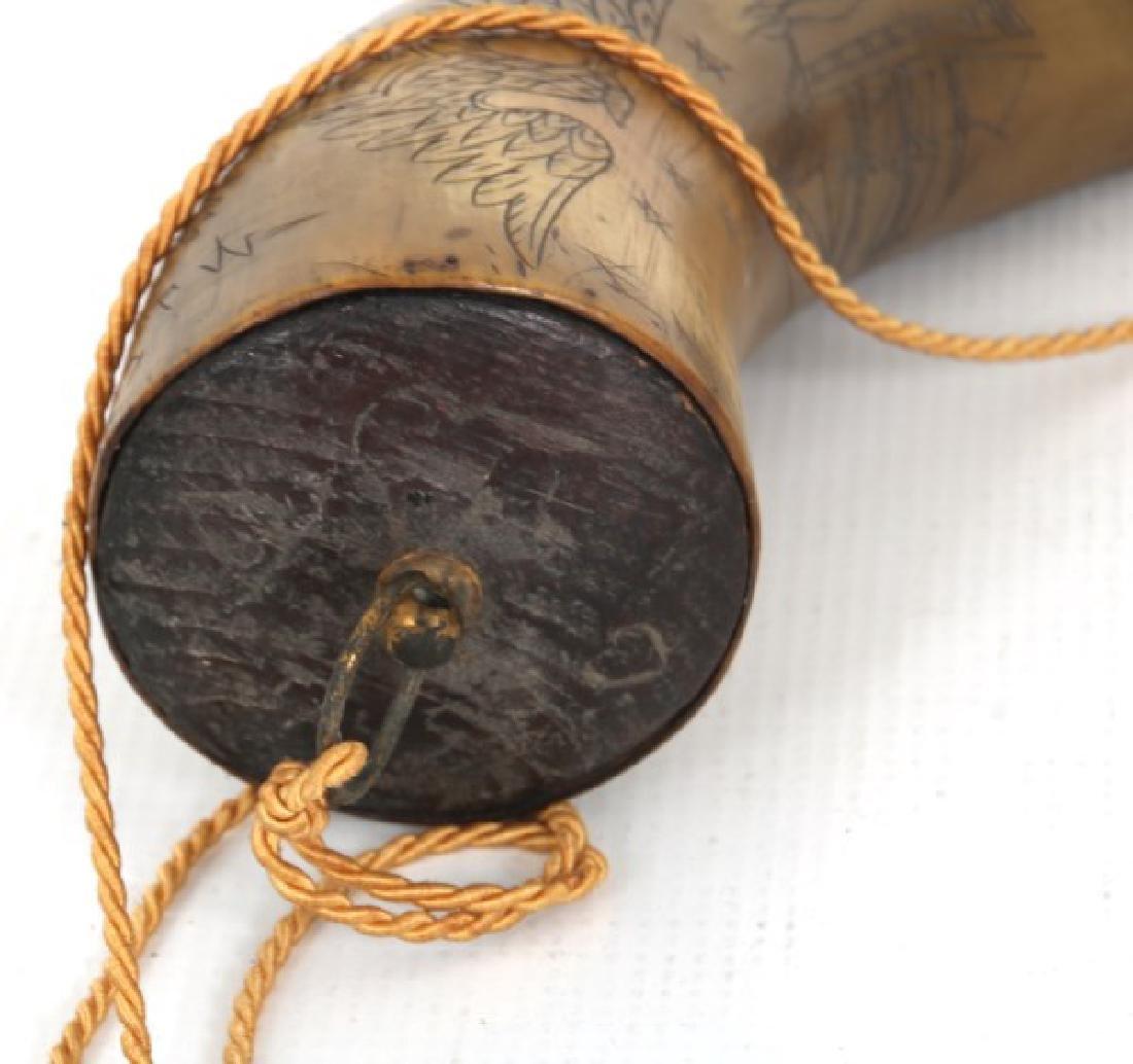 Engraved Powder Horn - 9