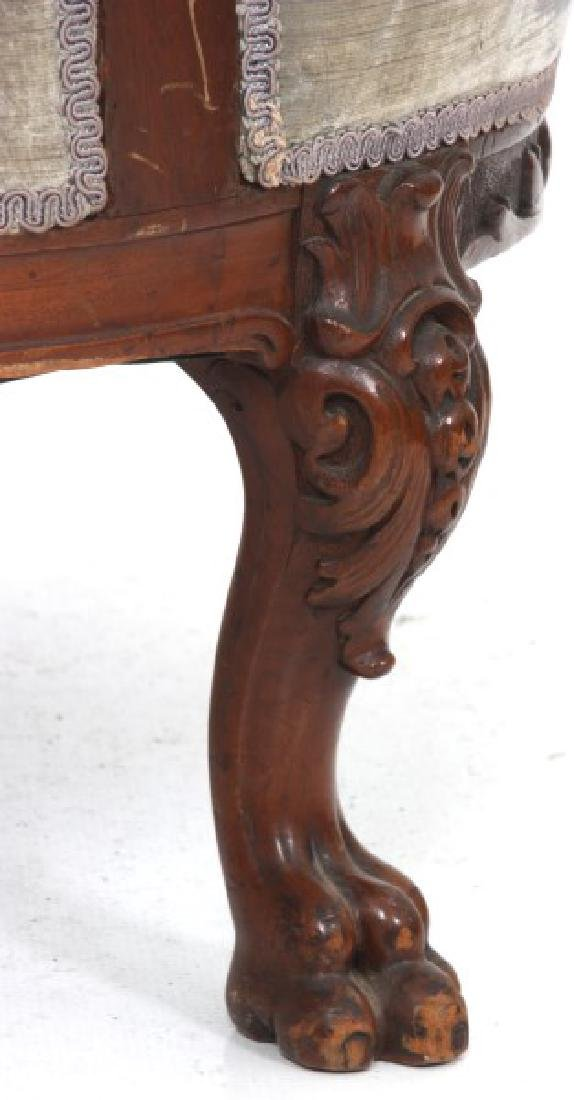 Griffin Carved Mahogany Armchair - 10