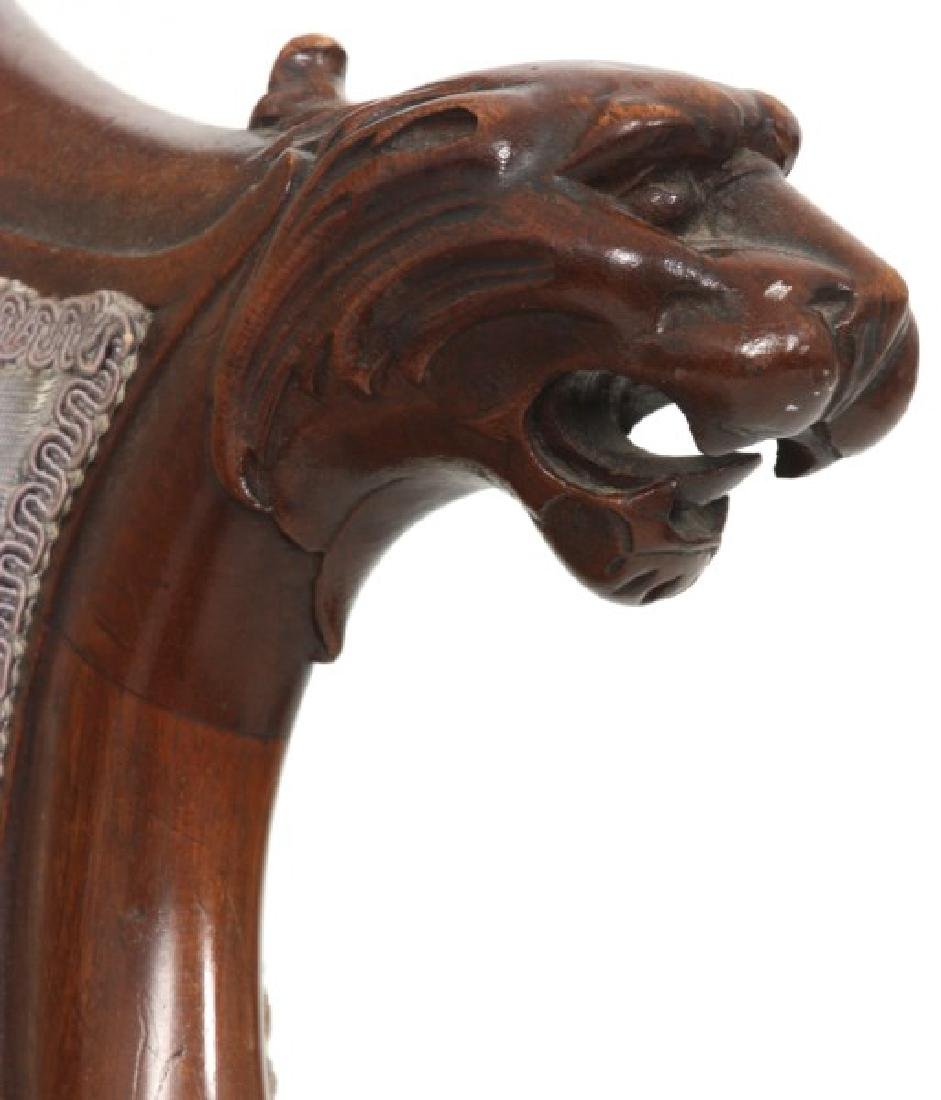 Griffin Carved Mahogany Armchair - 4