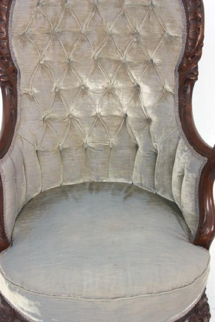 Griffin Carved Mahogany Armchair - 5