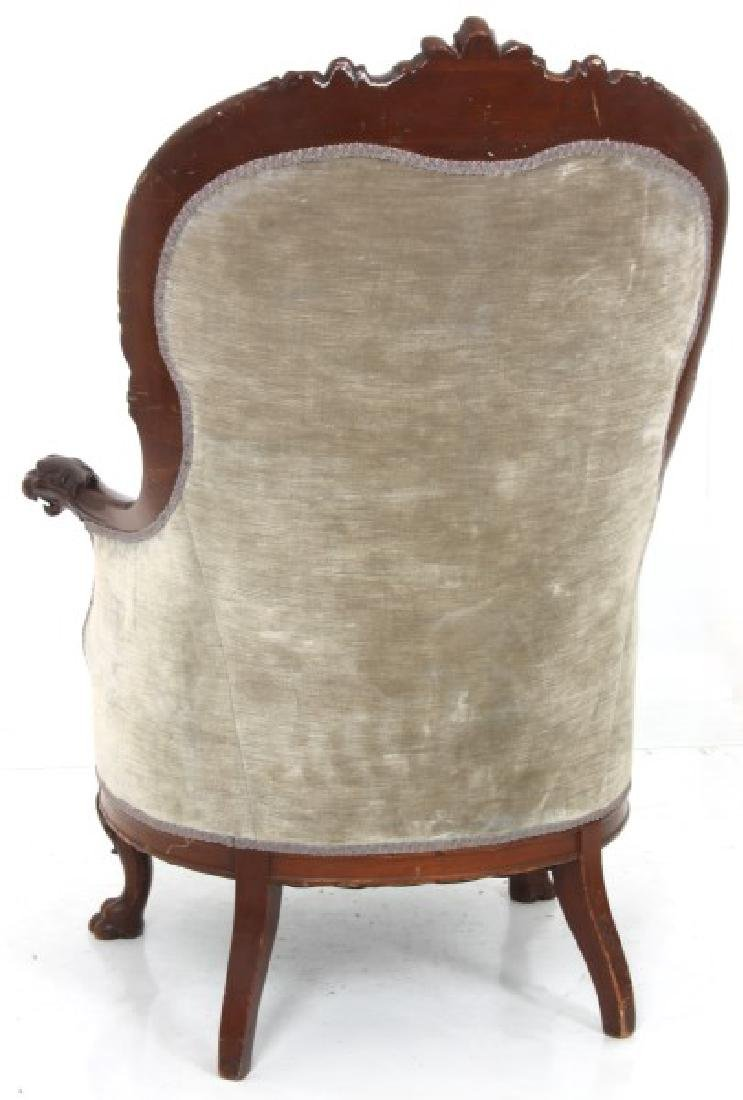 Griffin Carved Mahogany Armchair - 7