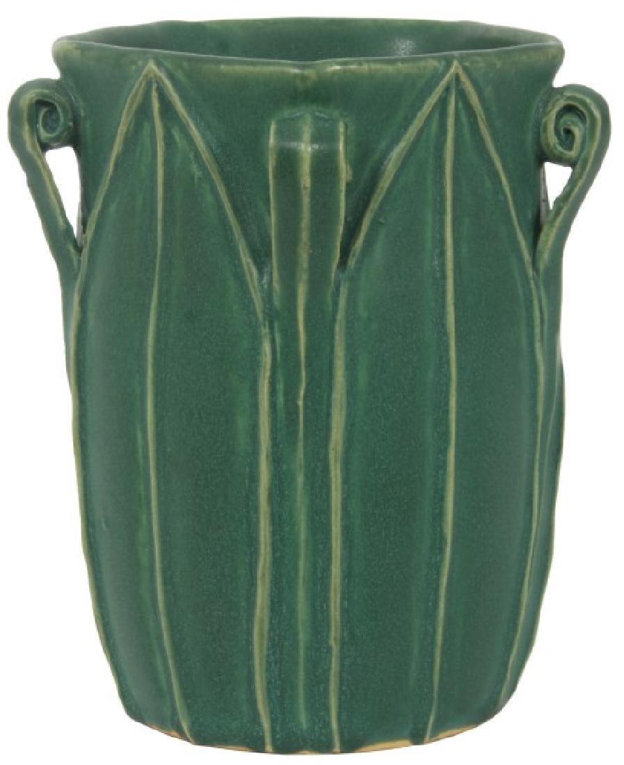 Grueby Matte Green Pottery Vase
