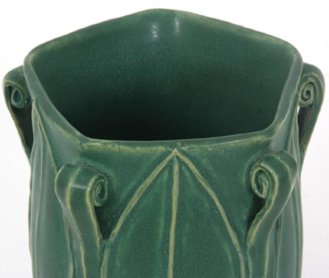 Grueby Matte Green Pottery Vase - 3