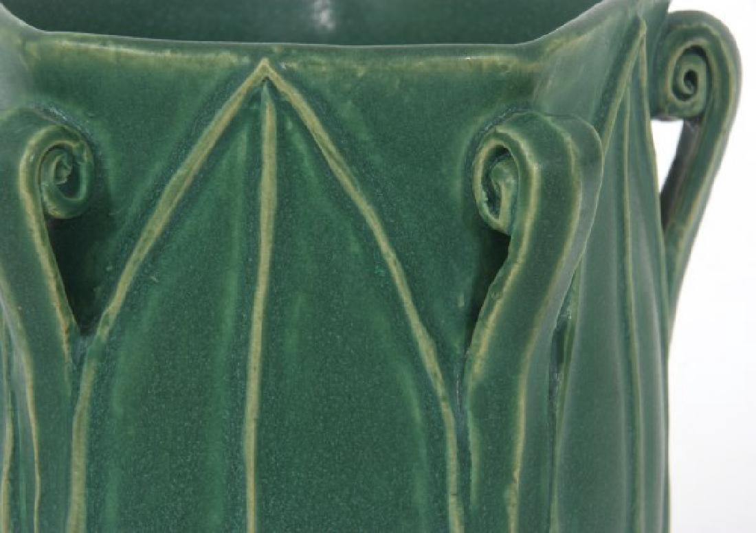 Grueby Matte Green Pottery Vase - 5