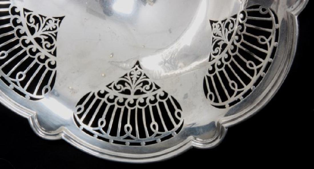 English Sterling Silver Reticulated Compote - 9