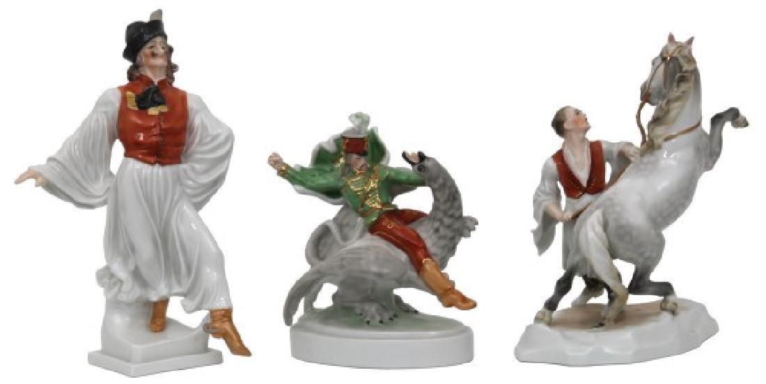 3 Pcs. Herend Porcelain Figurines