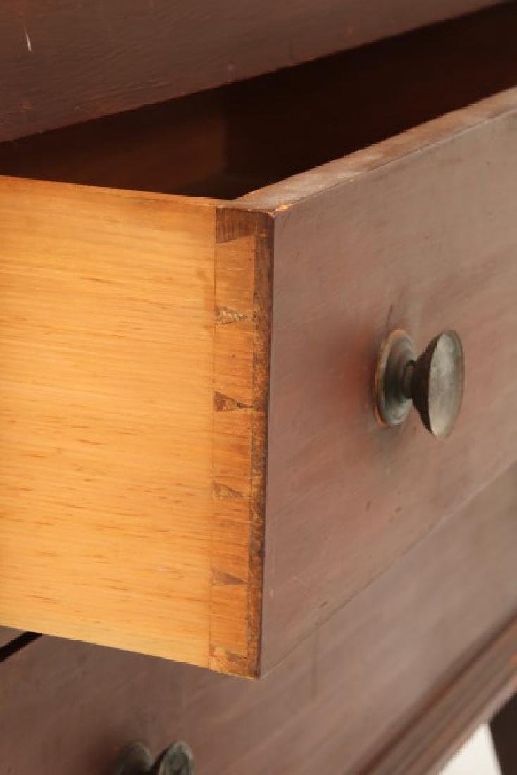 2 Drawer Pine Painted Blanket Chest - 5