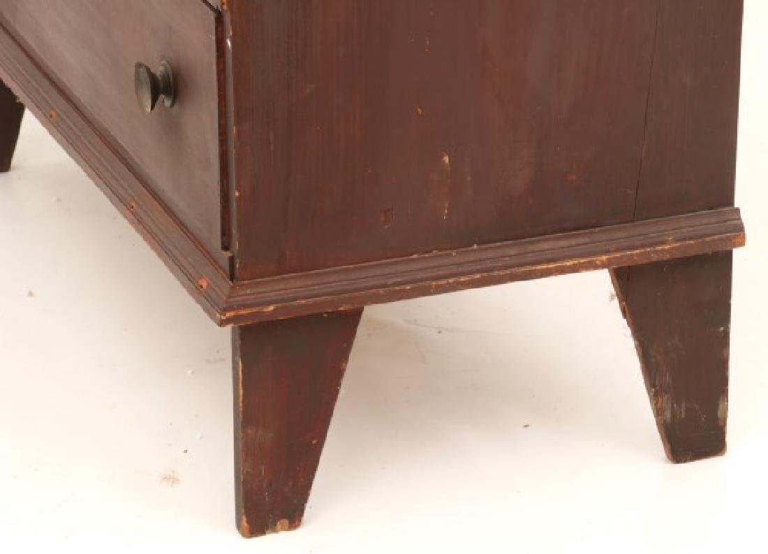 2 Drawer Pine Painted Blanket Chest - 6