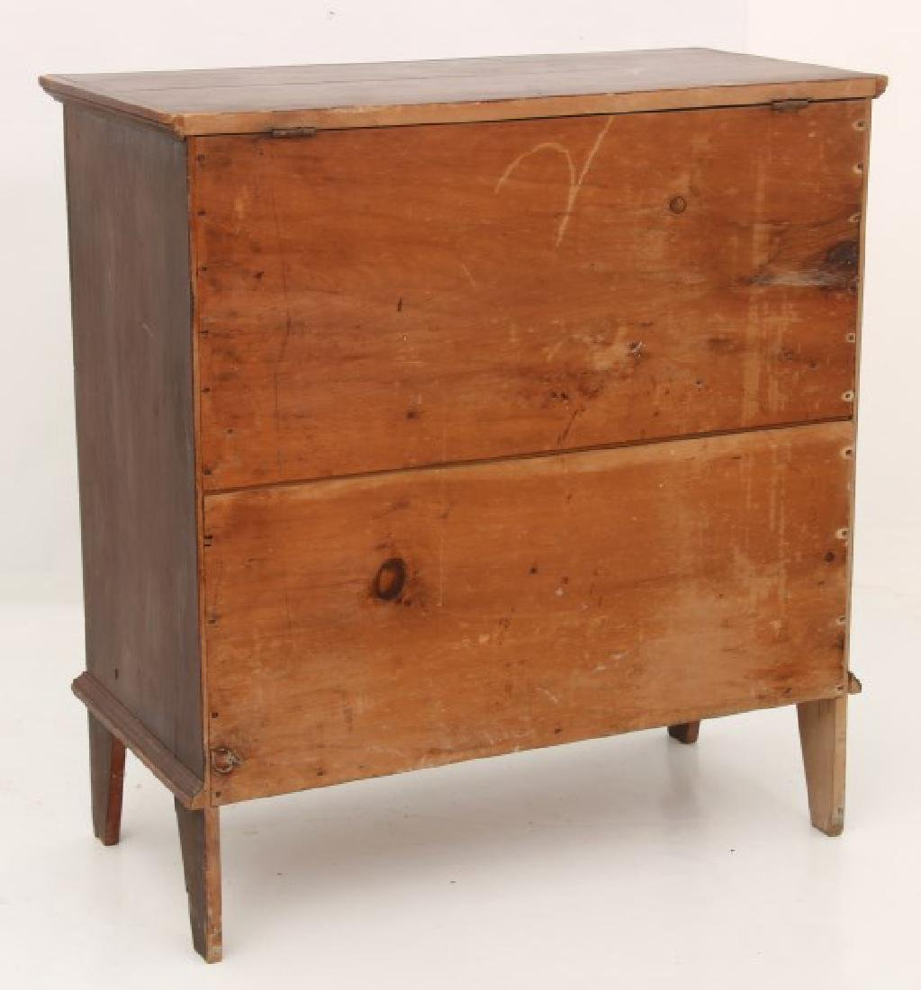 2 Drawer Pine Painted Blanket Chest - 7