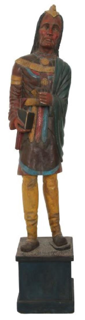 Leaning Indian Cigar Store Trade Figure
