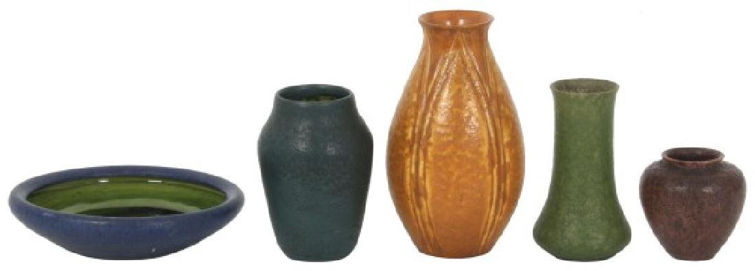 5 Pcs. Grueby and Art Pottery