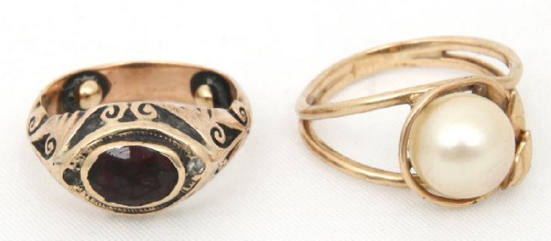 14 Pcs. Estate 14K Gold Jewelry - 9