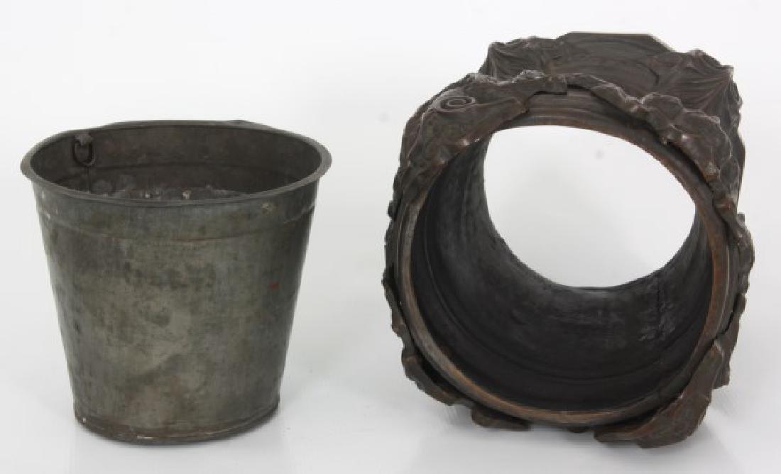Bronze Fernery w/ Maiden Heads - 6