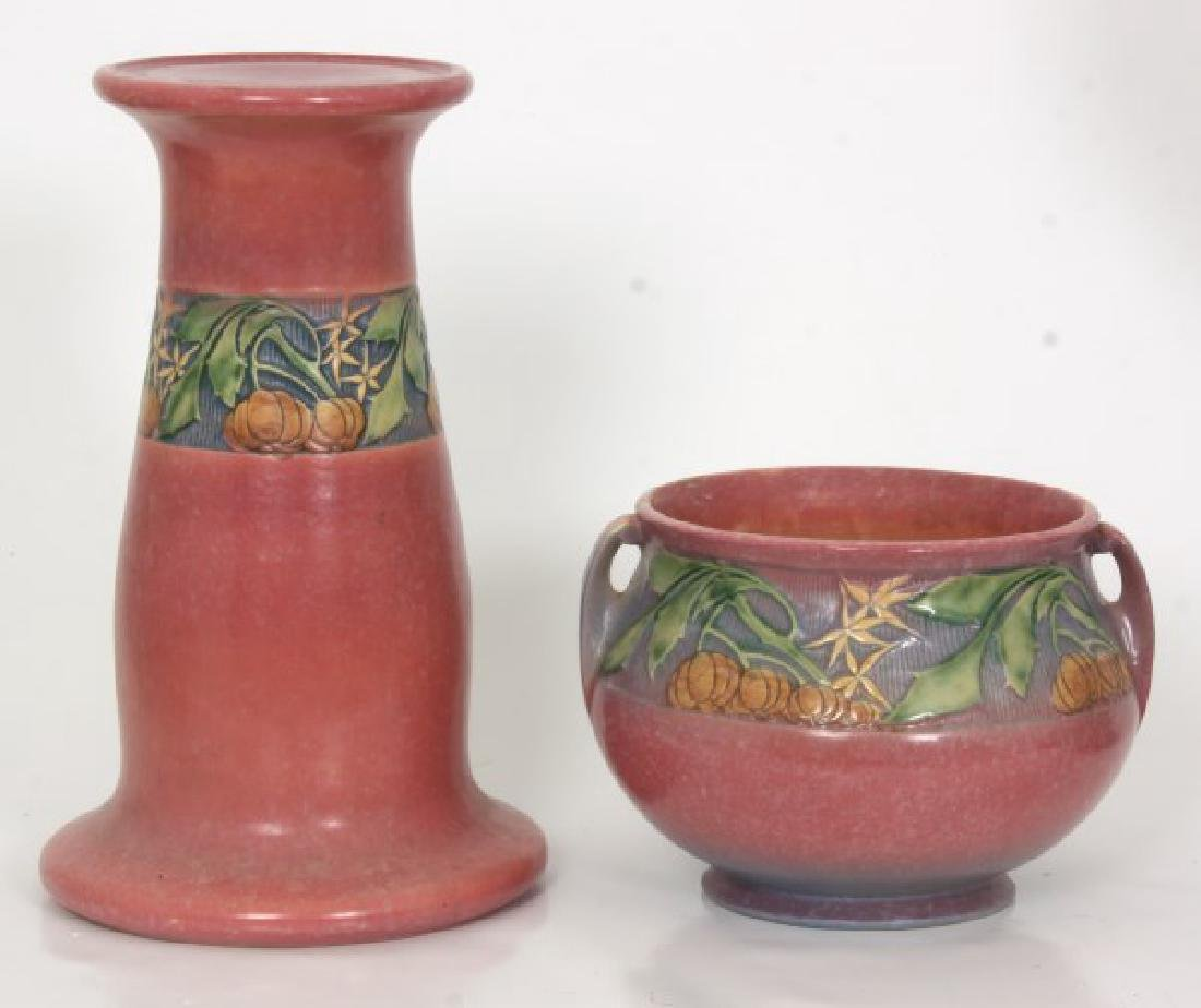 6 Pcs. Roseville Beneda Pattern Pottery - 6