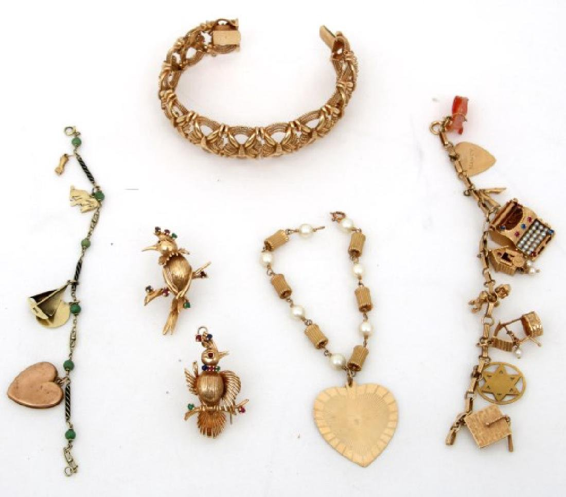 6 Pcs. 14K Gold Estate Jewelry
