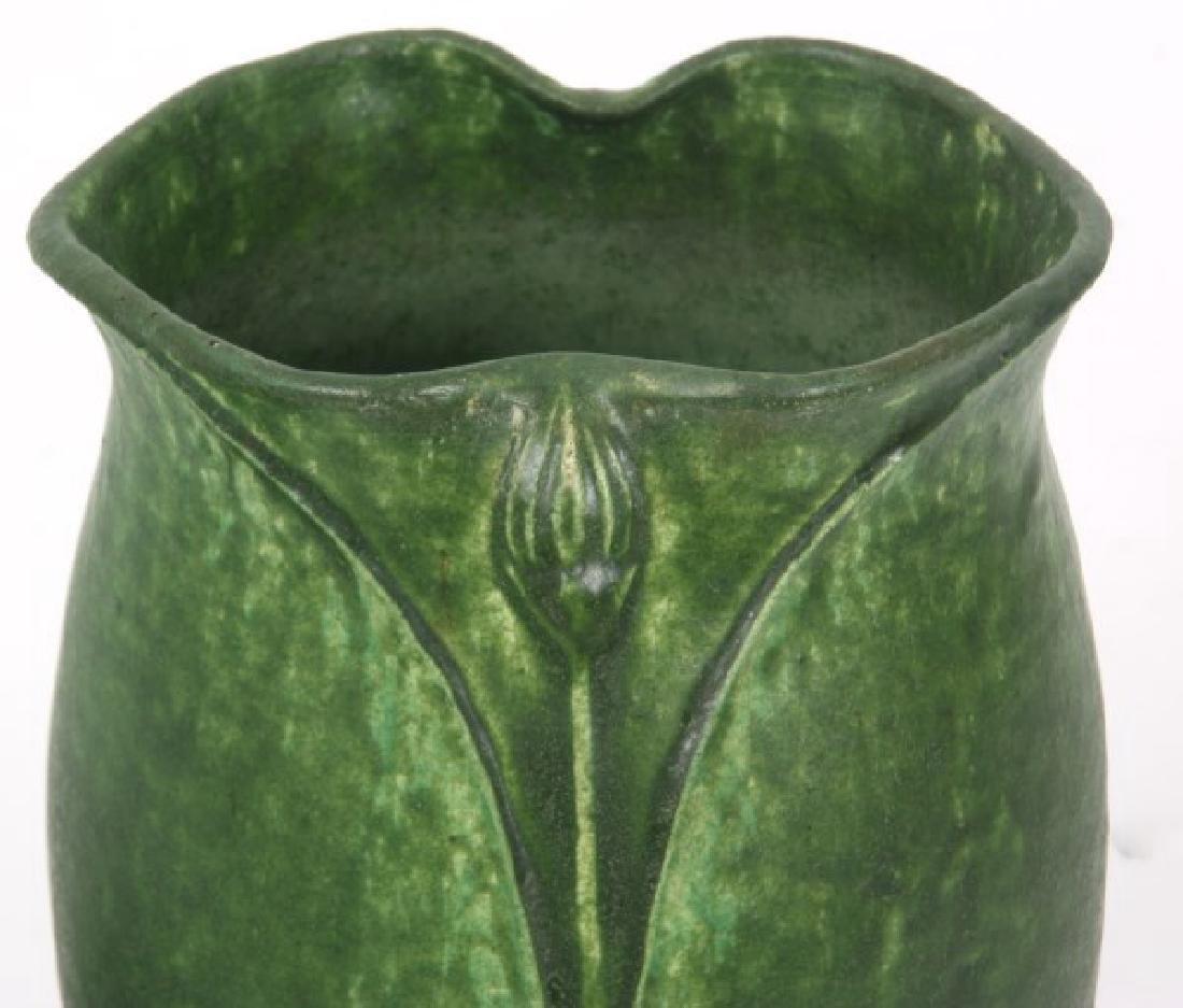 2 Pcs. Grueby Matte Green Glaze Pottery - 2