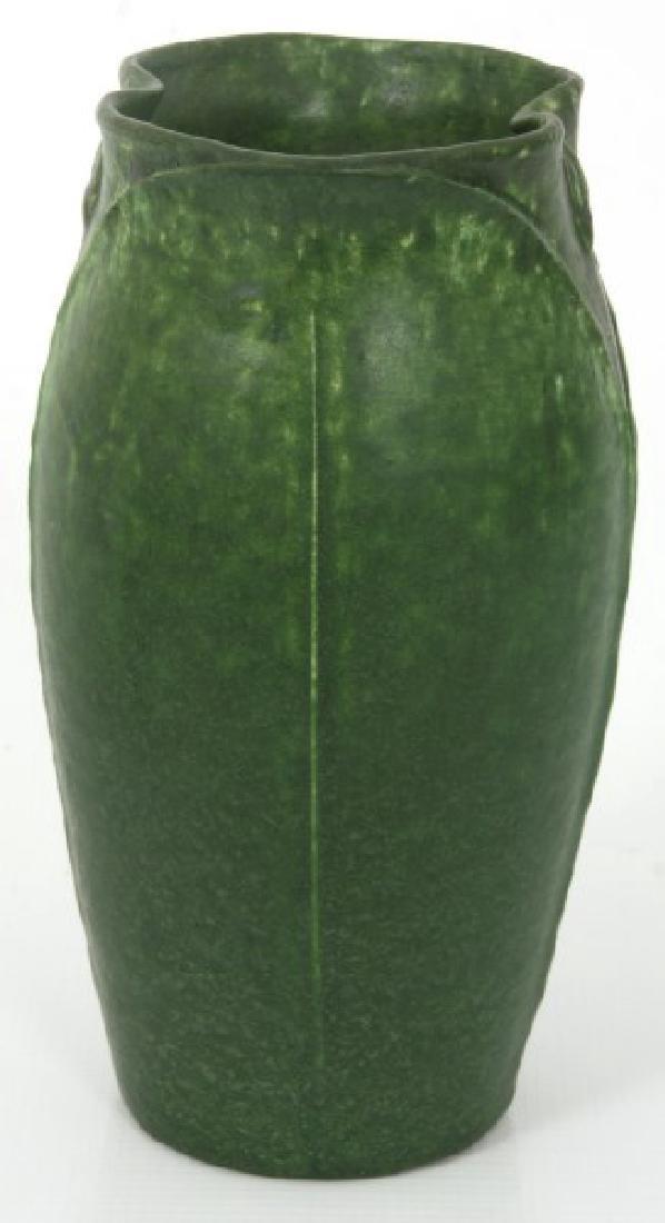 2 Pcs. Grueby Matte Green Glaze Pottery - 3