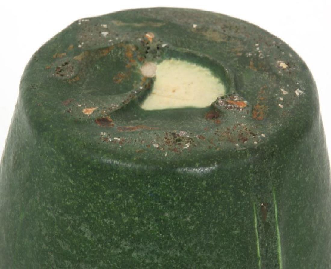2 Pcs. Grueby Matte Green Glaze Pottery - 4