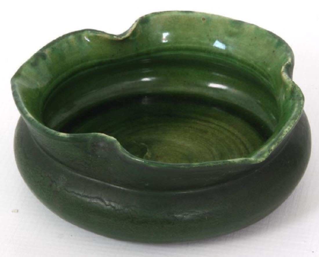2 Pcs. Grueby Matte Green Glaze Pottery - 5