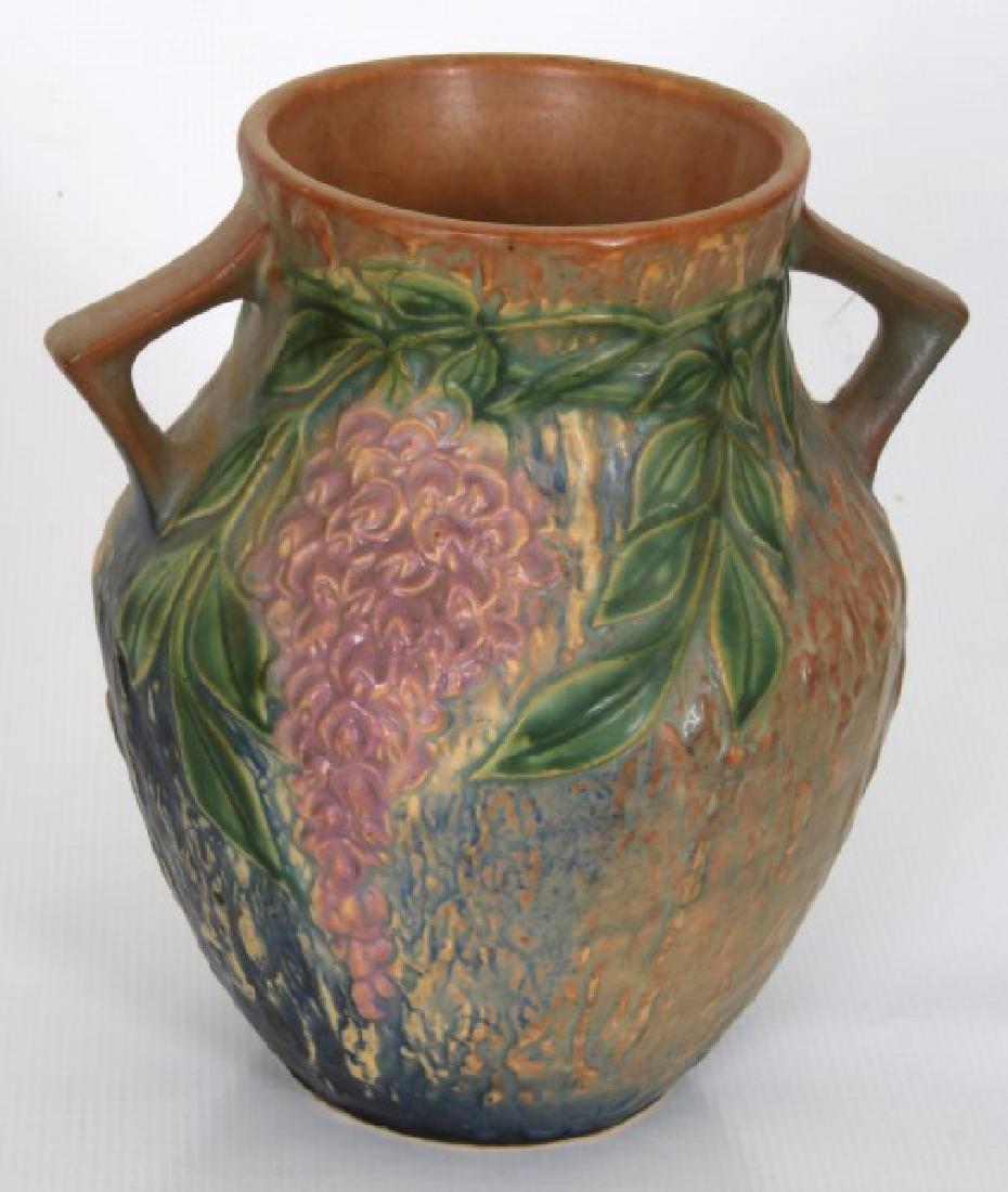 3 Pcs. Roseville Wisteria Pottery Vases - 2