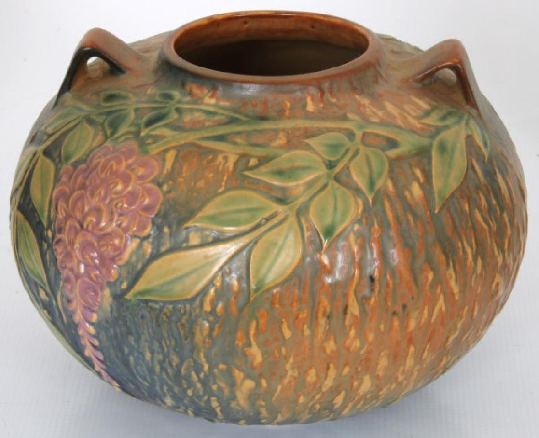 3 Pcs. Roseville Wisteria Pottery Vases - 4