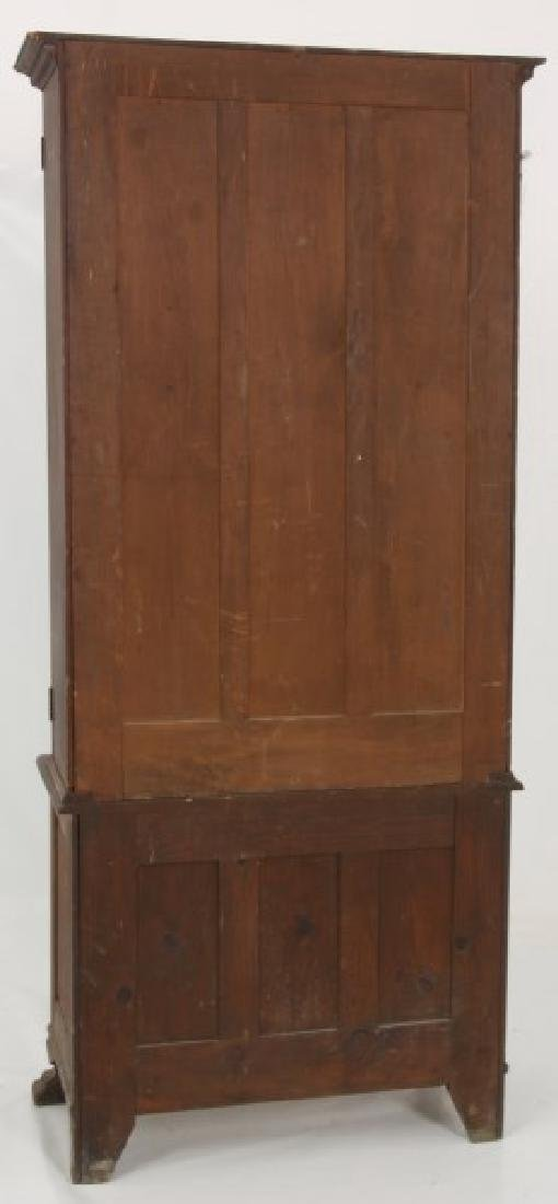 The Holt Carved Oak Step Back 2 Dr. Gun Cabinet - 9