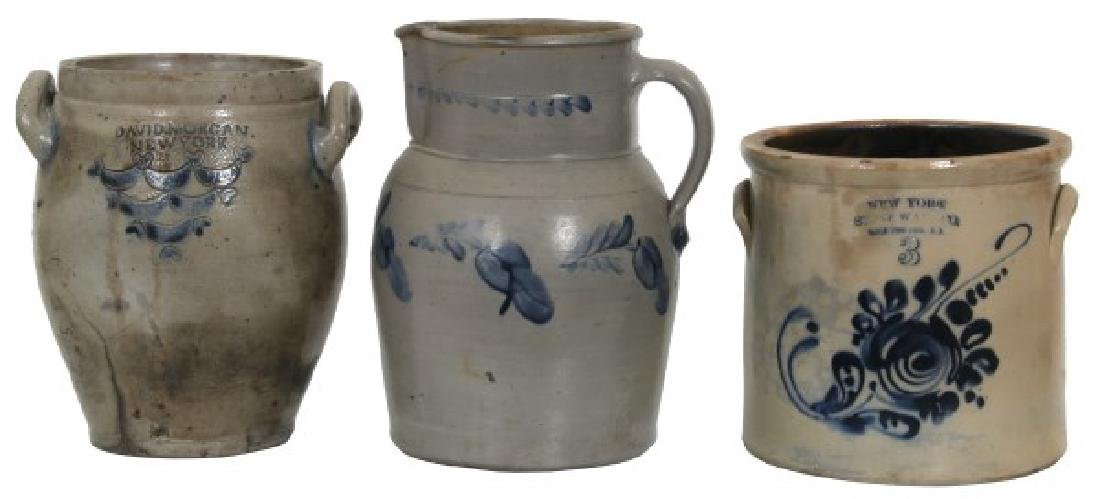 6 Cobalt Decorated Crocks And Jugs - 2