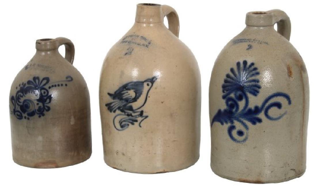 6 Cobalt Decorated Crocks And Jugs - 7