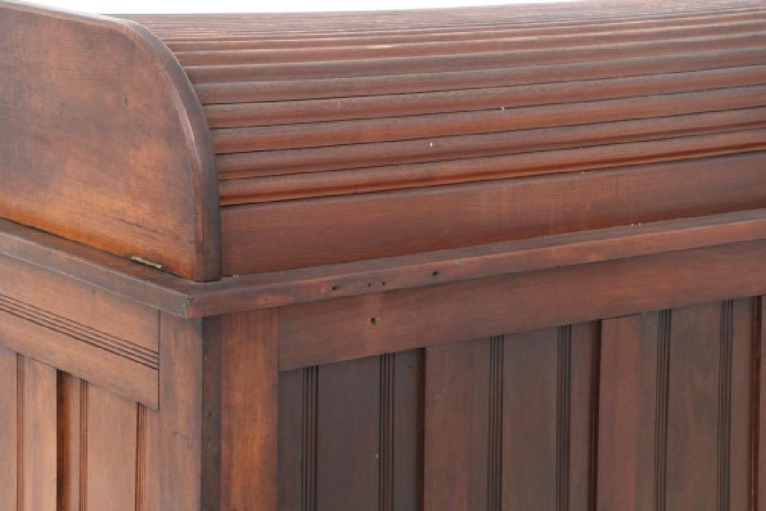 Walnut Roll Top Watchmaker's Bench - 8