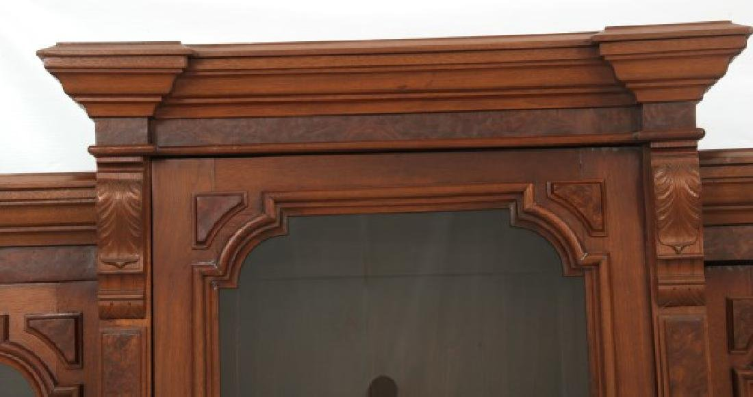 3 Door Walnut Bookcase - 2