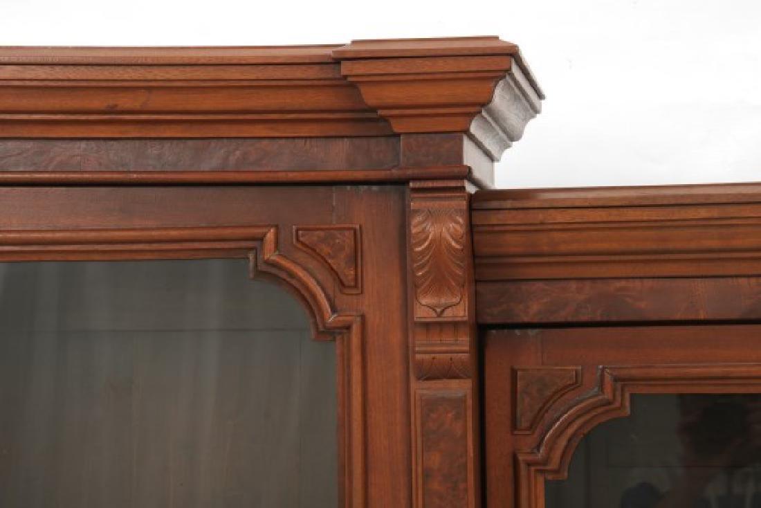 3 Door Walnut Bookcase - 6